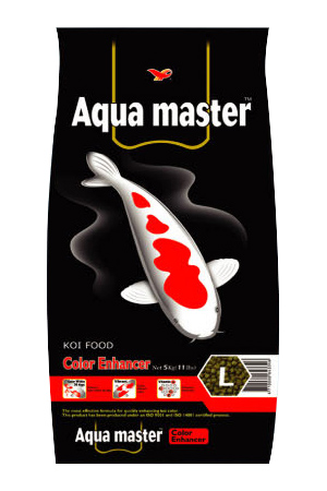 Aqua Master Color Enhancer Koi Food Large Pellet 22 lbs