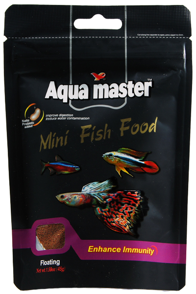 Aqua Master Mini Tropical Fish Food-Enhance Immunity 1.58 oz