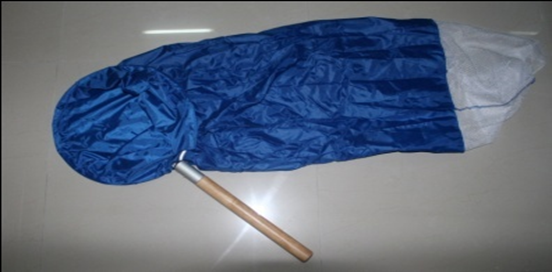 "12"" Diameter Wood Handle Transfer Net Blue"